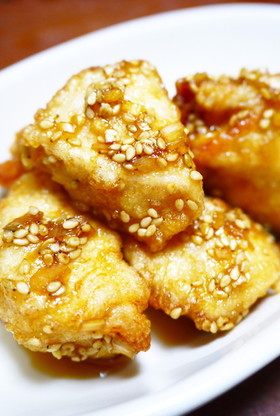 お弁当に冷凍作り置き!鶏むね肉の油淋鶏