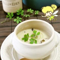 チキンときのこのミルクスープ