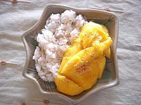 タイのマンゴーデザート「カオニャオ・マムワン」
