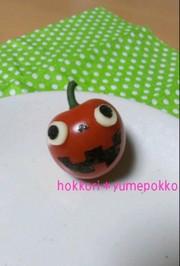 ハロウィンおかず*ミニトマトおばけの写真