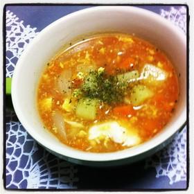 簡単!野菜のトマト風スープ(コンソメ)