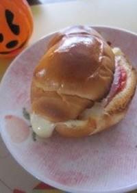 バターロールで☆ハムチーズトースト