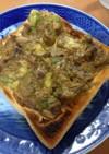 余った海苔の佃煮で★アボツナ海苔トースト