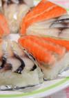 しめサバとシメ鮭(サーモン)の押し寿司