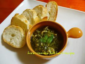 ツブ貝のバジル香るアヒージョ(オイル煮)