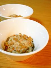 納豆の美味しい食べ方「塩麹+酢+胡麻」の写真