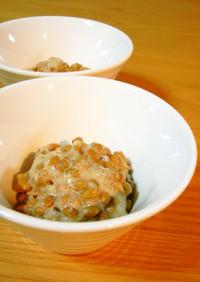 納豆の美味しい食べ方「塩麹+酢+胡麻」