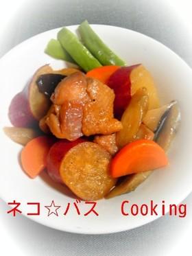 サツマイモと鶏の炒め煮☆