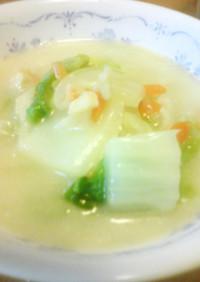 白菜とホタテの朝スープ