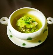 ツナとキャベツのコンソメスープの写真
