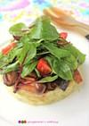 マッシュポテトと茸ソテー&リーフのサラダ