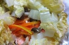 白菜たっぷり❤フライパンで鮭のホイル焼き
