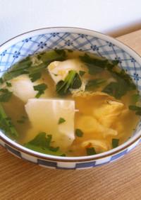 くずし豆腐と卵のスープ*