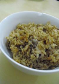 沖漬けアオリイカの炊き込みご飯