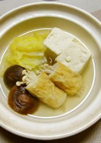 竹輪入り湯豆腐