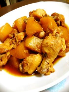活力鍋de鶏手羽と大根の煮物