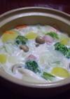 野菜とマロニーのほっこりあっさりスープ鍋