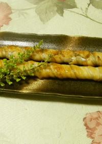 太刀魚竹巻き焼き(宇和島風)