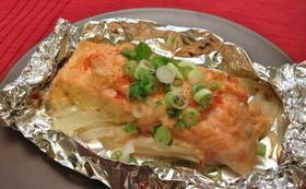 鮭の味噌マヨホイル焼き