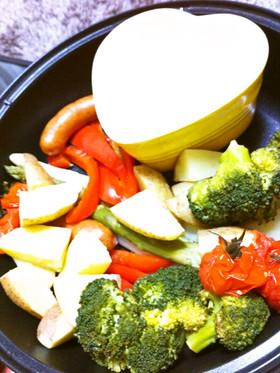 野菜スティックと3種のソース♪