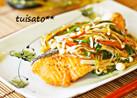 鮭のお酢ときのこ野菜のタップリあん☆