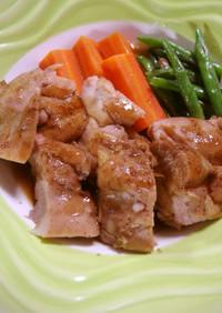 バルサミコ酢で鶏の照り焼き