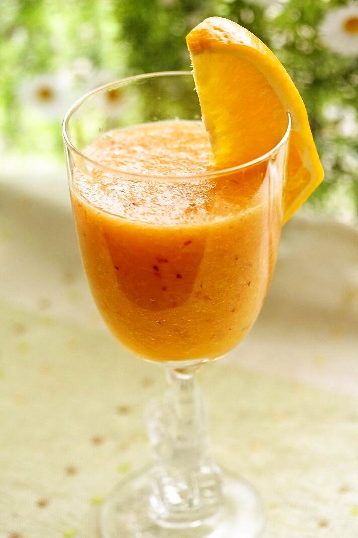 風邪予防に~オレンジスムージー