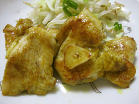 じゅーしー★鶏むね肉のカレー粉焼き