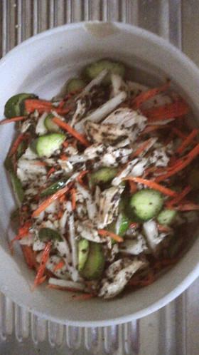 鶏ささみ&長芋の胡麻サラダ