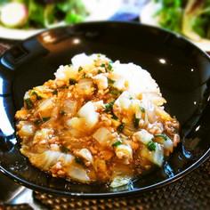 白菜と豚挽肉のとろとろあんかけご飯☆