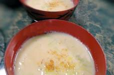 ホッと☆キャベツとじゃが芋の豆乳味噌汁