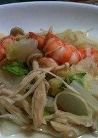 【21日間ダイエット】白菜とエビの炒め風