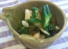 和食小鉢♪オクラと長芋の梅肉とろろ和え