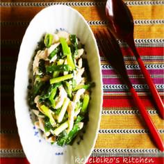 鶏のささみと小葱の中華炒め