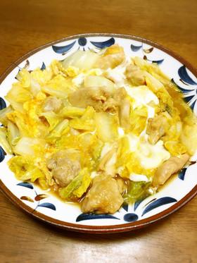 白菜と鶏肉の卵とじ