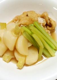 かぶとうすあげ(油あげ)の簡単煮物