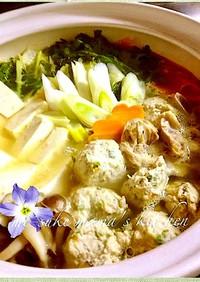 土鍋で博多名物☆かしわ水炊き+つくねஐஃ
