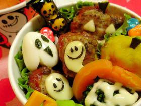 ハロウィン☆チーズでオバケ ハンバーグ