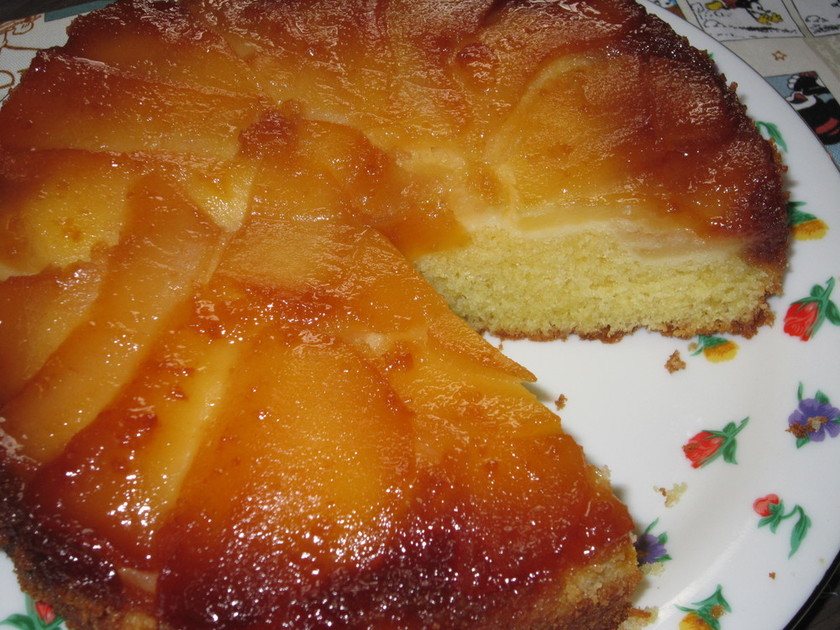 りんごのアップサイドダウンケーキ