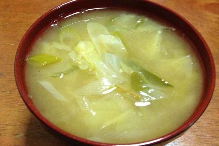 味噌汁 白菜 の