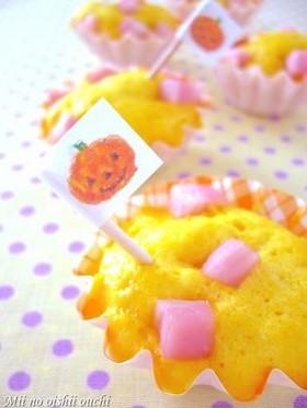 レンジ1分!栗かぼちゃハロウィン蒸しパン