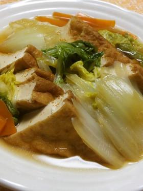 白菜と厚揚げのくたくた煮