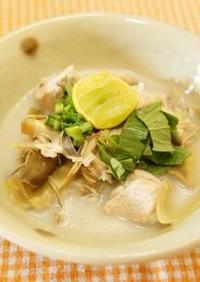 バナナの花とチキンのスープ@カンボジア