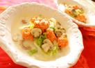 鮭団子白菜マッシュルームのクリームスープ