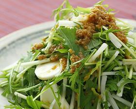 大根と長芋と水菜の和風ノンオイルサラダ