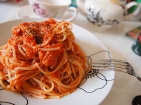 ツナとトマト缶の簡単パスタ