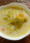 簡単!千切り白菜の豆乳スープ