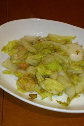 生姜でさっぱり☆海老と白菜の簡単炒め