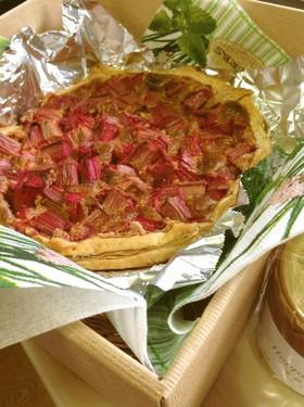 真っ赤なルバーブのパイ