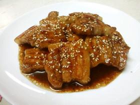 厚切り豚バラのガッツリ★かば焼き